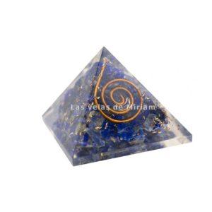 Mini pirámide orgonita lapislázuli