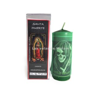 Velón preparado Santa Muerte verde